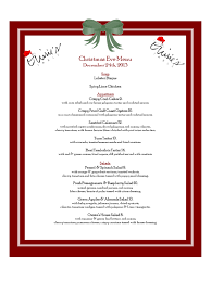 breakfast menu template christmas menu template word best business template s
