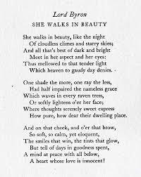 best lord byron ideas poems that rhyme she walk in beauty