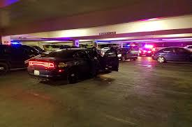 Chase of car theft suspects ends inside casino parking garage Las