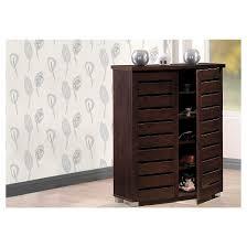 shoes storage furniture. adalwin modern and contemporary 2door wooden entryway shoes storage cabinet dark brown baxton studio furniture