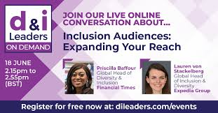 """d&i Leaders (Diversity and Inclusion Leaders) on Twitter: """"Priscilla Baffour  (@Cilla4Talent) @FinancialTimes & Lauren von Stackelberg (@ljvonstack)  Expedia (@lifeatEG) share how to expand the reach of your #inclusion agenda  to customers, suppliers"""