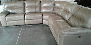 sec 1 taupe leather sectional
