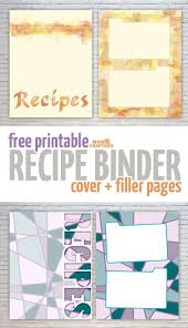 Recipe Binder Templates Free Recipe Binder Printables Moms And Crafters