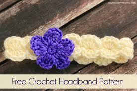 Crochet Flower Pattern For Headband Simple Free Crochet Flower Headband Pattern