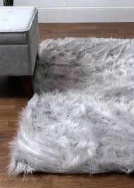 large faux fur rugs gray faux fur rug hand woven faux sheepskin gray area rug light