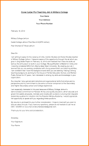 10 Teaching Position Cover Letter Offecial Letter