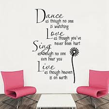 generic love sing live english e style wall sticker home appliances decor wall decals