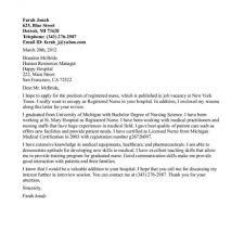 Resume Sample Cover Letter For Nursing Resume Best Inspiration