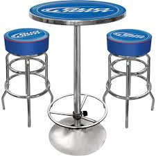 bud light bar table and stools set blue height chairs bud x stools full