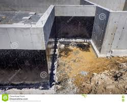 New House Download New House Foundation Waterproofing Stock Photo Image Of Excavated
