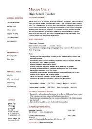 Resume Sample For Teaching High School Teacher Resume Template Example Sample Teaching