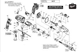 milwaukee drill wiring diagram wiring diagram and schematic craftsman 1 2 inch hammer drill wiring diagram parts model
