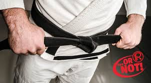 a black belt does not mean mastery