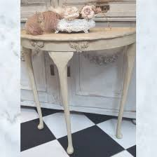 cream console table. Antique Vintage French Painted Console Table Cream