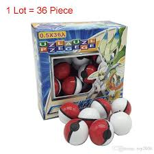 <b>Hot sale 36Pcs</b>/Lot ABS classic Action Anime Figures Poke balls