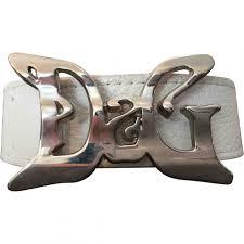 Handcuff Belt Designer Leather Belt D G White Size 85 Cm In Leather 8087485
