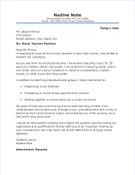 Music Teacher Cover Letter Sample Extraordinary Resume Playing Music
