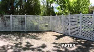 fence painting staining before and after