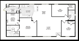 Spacious Double Wide Mobile Home Floorplans in New Mexico  Texas    Standard Features
