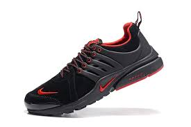 autumn winter nike presto leather low top men s women s running casual sports shoes black red