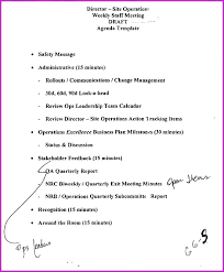 Simple Meeting Agenda Template Format Printable With Times