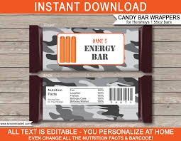 hershey candy bar wrapper nerf party hershey candy bar wrappers personalized chocolate bars
