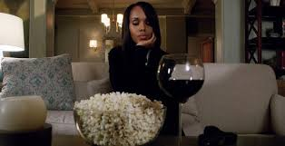 Image result for popcorn and wine