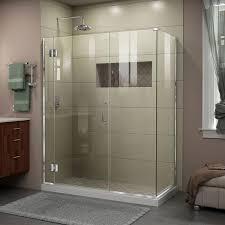 dreamline e1251434 unidoor x 45 w x 34 3 8 d x 72 h frameless hinged unidoor x shower enclosure 01