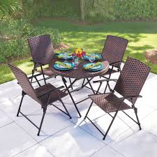 the folding all weather wicker table and chairs