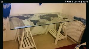 ikea glass table top glass table top and white trestle legs ikea round glass table tops