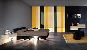 modern wall paint ideas. bedroom : unusual design ideas of modern color scheme with deep grey colors wall paint also combine large wardrobe yellow white black