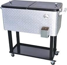 patio cooler cart aluminium patio deck outdoor bar kitchen cooler with cart quart capacity from