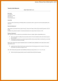 9 10 Sample Resumes Teacher Assistants Juliasrestaurantnj Com