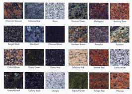 many granite choices are simple shades like white or black with mottling or veining of diffe colors that said you can also get granite in a huge