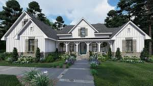 cottage farmhouse southern house plan 75160 with 4 beds 3 baths 2