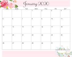 Calendar Doc Blank January 2020 Calendar Word Doc Printable Printable