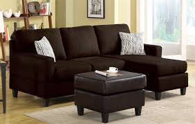 vogue reversible chaise sectional in chocolate microfiber by acme 05907