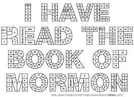 Book Of Mormon Reading Chart Printable Mormon Share I Have Read The Book Of Mormon Reading