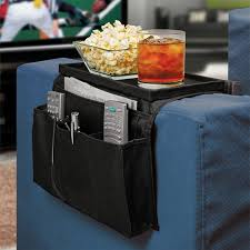 sofa couch chair arm rest organizer remote control holder 6 pocket with table top