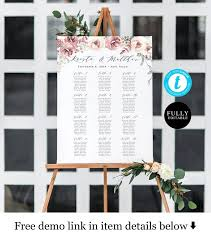 Free Digital Seating Chart Seating Chart Template Digital Seating Board Poster Instant Download Diy Templett Pdf Jpg Self Editing Printable Geometric Flower Vmt3110