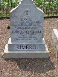 "Mary ""Polly"" Gilbert Kimbro (Unknown-1851) - Find A Grave Memorial"