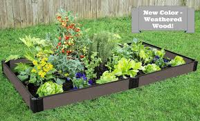 composite raised garden bed. Plain Bed NEW Weathered Wood Raised Garden Bed 4u0027 X 8u0027 55u201d U2013 1u201d Profile On Composite R