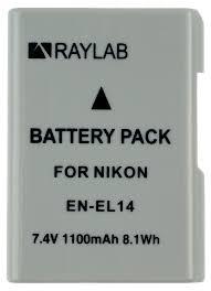 <b>Аккумулятор Raylab RL</b>-ENEL14 1100мАч (для Nikon D3200 ...
