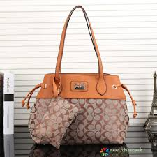 2016 Coach Purse Shoulder Bag Apricot Handbag