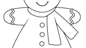 Ginger Bread Coloring Pages Gingerbread Man Coloring Page 3