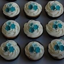 These Turquoise Blossom Cupcakes Are A Great Mix Of Blue And