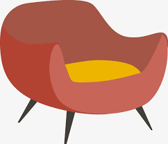 cartoon sofa chair. Vector Cartoon Orange-red Sofa Chair, Vector, Simple, Flat PNG And Chair B