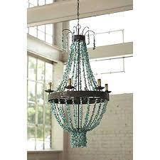 full image for turquoise beaded chandelier light fixture regina andrew design beaded turquoise chandelier
