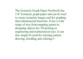 Equilateral Triangle Graph Paper Isometric Notebook For Architects