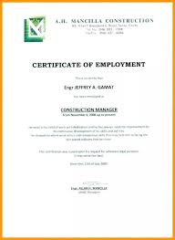 Sample Certificate Of Employment Climatejourney Org